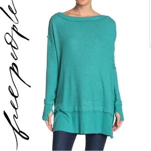 🆕️ Free People North Shore Thermal Knit Tunic Top